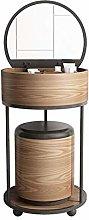 noyydh Round Vanity Table Set-flip-top Dressing