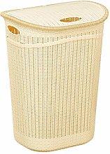 Nozha Trade Plastic Rattan Laundry Basket Clothes