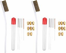 Nozzle Cleaning Needle Kit, Stainless Steel Nozzle