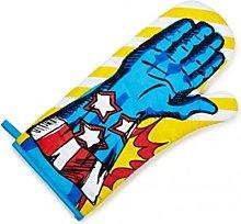 NPW Superhero Oven Glove Mitt, Fabric, Blue