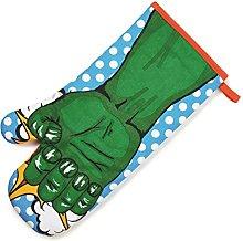 NPW Superhero Oven Glove Mitt, Fabric, Green