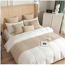 NQAZ Bed Runner Solid Color for Bedroom Hotel