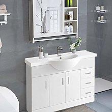 NRG 1200mm Gloss White Floor Standing Basin