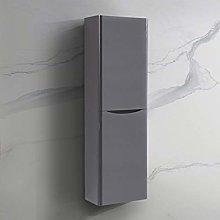 NRG 1400mm Gloss Grey Tall Cupboard Storage