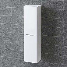 NRG 1400mm Gloss White Tall Cupboard Storage