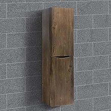 NRG 1400mm Grey Oak Effect Tall Cupboard Storage