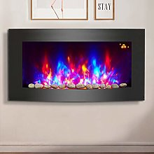 NRG 2KW Black Curved Glass Screen Wall Mounted