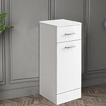 NRG - 300mm Gloss White Bathroom Laundry Basket