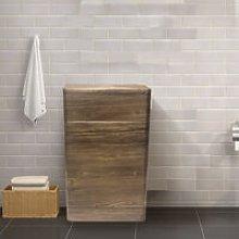 NRG - 500mm Grey Oak Effect Back To Wall Bathroom