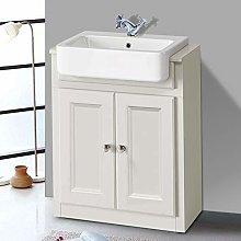 NRG 667mm Traditional Vanity Sink Unit Bathroom