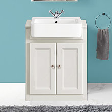 NRG - 667mm Traditional Vanity Sink Unit Bathroom
