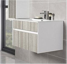 NRG - 800mm Wall Hung 2 Drawer Bathroom Vanity