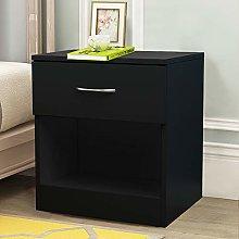 NRG Black Chest of Drawer Storage Drawers Bedside