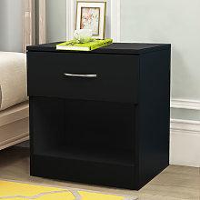 NRG Black Chest of Drawer Storage Drawers Bedside