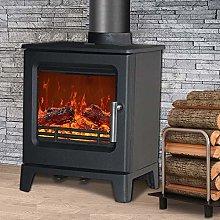 NRG Defra 4.3KW Cast Iron Woodburning Stove Eco