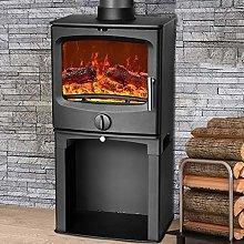 NRG Defra 5KW Contemporary Wood Burning Multi-Fuel