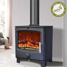 NRG Defra 5KW Contemporary Wood Burning Multifuel