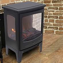 NRG Electric Fireplace Stove Heater with Fire