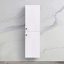 NRG Gloss White 1400mm Tall Cupboard Wall Hung