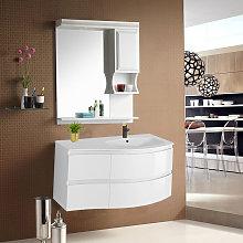 NRG - Gloss White Bathroom Vanity Basin Unit Wall