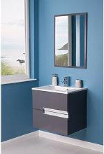 NRG - Grey 600mm Bathroom Vanity Basin Unit Wall