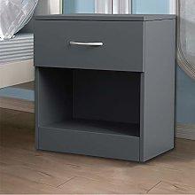 NRG Grey Chest of Drawer Bedside Cabinet Storage