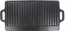 NRG Griddle Pan Cast Iron Reversible Grill Plate