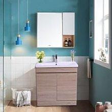 NRG - Light Oak Bathroom Vanity Sink Unit Basin
