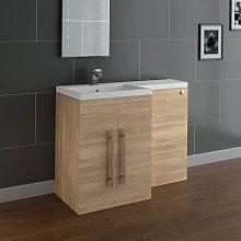 NRG - Light Oak Left Hand Bathroom Cabinet