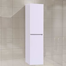 NRG Modern Wall Hung Tall Storage Cabinet 1400 x