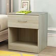 NRG Oak Chest of Drawer Storage Cabinets Bedside