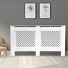 NRG - Traditional Radiator Cover MDF Cabinet White