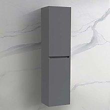 NRG Wall Hung Bathroom High Cabinet Tall Cupboard