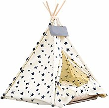Nrkin Dog Tent Pets Teepee Pet Tent for Dogs Puppy