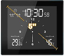 Nrpfell Digital LCD Screen Clock,Countdown Clock