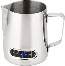 Nrpfell Milk Frothing Pitcher With Thermometer