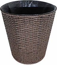 Nrpfell Weaving Trash Can Household Office Garbage