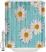 nsseoydkk Daisy Flower Board Patterns Bathroom