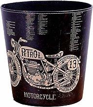 NSYNSY Retro Leather Trash Cans Wastebasket,round
