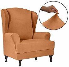 NSYNSY Stretch Velvet Wing Chair