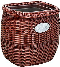 NSYNSY Wicker Trash Can Seagrass Woven
