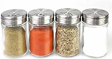 NTR Clear Glass Mini Spice Shaker Seasoning Cans