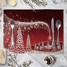 NTT Placemats Cork Backed,Christmas pattern dining