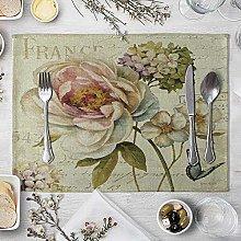 NTT Table Mats,Vintage Flowers Table Mat Cotton