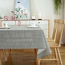 NTZTO Table Cloth Small Plaid Table Cloth Table