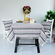 NTZTO Table Cloths Christmas Tablecloth New Year