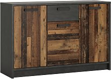 Nubi 3 Door 1 Drawer Chest - Wood Effect