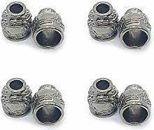 Nubstoer 12 Pieces Detachable Cap Metal Bell Cord