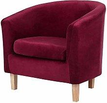 NUELLO Velvet Club Chair Slipcover, High Stretch
