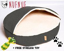 Nuf Nuf Dog Bed - BED BUD Dark Grey + Free Srelka